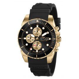 Sector R3271776009 Herrenuhr Chronograph 450 Schwarz-Gold
