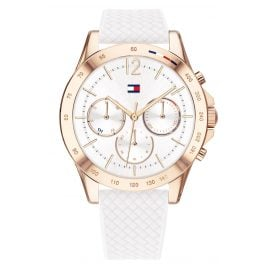 Tommy Hilfiger 1782199 Ladies Watch Multifunction Haven white / rose gold