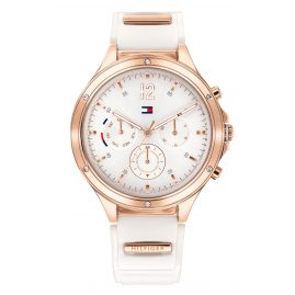 Tommy Hilfiger 1782280 Women's Watch Multifunction Eve White/Rose Gold Tone