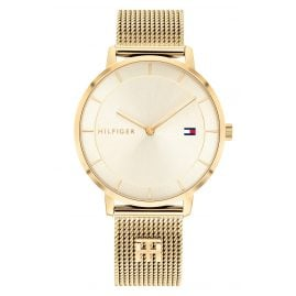 Tommy Hilfiger 1782286 Ladies' Watch Tea with Gold Tone Mesh Strap