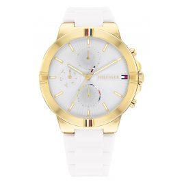 Tommy Hilfiger 1782333 Women's Watch Multifunction Talia Gold Tone/White