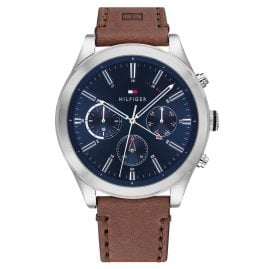 Tommy Hilfiger 1791741 Men's Watch Multifunction Ashton Brown / Blue