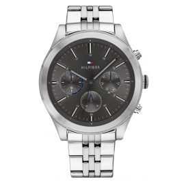 Tommy Hilfiger 1791737 Men's Multifunction Watch Ashton silver / grey