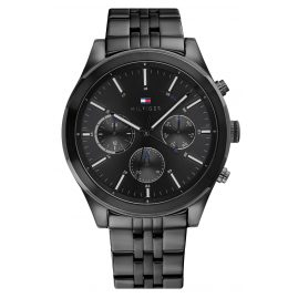 Tommy Hilfiger 1791738 Men's Wristwatch Multifunction Ashton Black