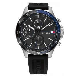 Tommy Hilfiger 1791724 Men's Watch Bank Black