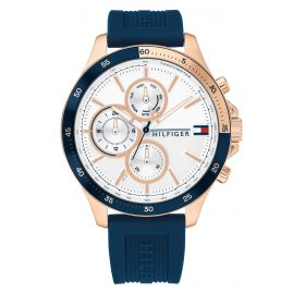 Tommy Hilfiger 1791778 Herren-Armbanduhr Bank blau / roségold