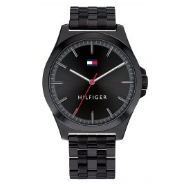 Tommy Hilfiger 1791714 Men's Watch with Steel Bracelet Barclay Black