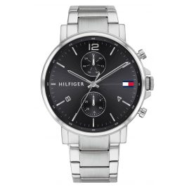 Tommy Hilfiger 1710413 Men's Watch Multifunction Daniel silver / black