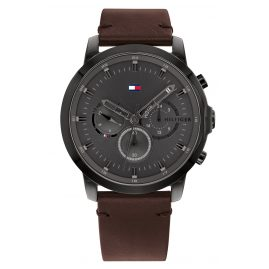 Tommy Hilfiger 1791799 Herren-Chronograph Dual Time Jameson Braun/Schwarz