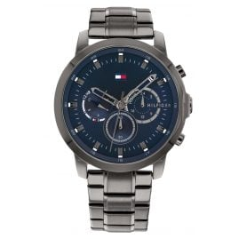 Tommy Hilfiger 1791796 Herrenuhr Chronograph Dual Time Jameson Anthrazit