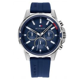 Tommy Hilfiger 1791791 Men's Wristwatch Multifunction Mason Dark Blue