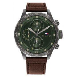 Tommy Hilfiger 1791809 Herren-Armbanduhr Multifunktion Trent Braun/Grün