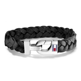 Tommy Hilfiger 2700872 Men's Leather Bracelet Casual Black