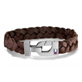 Tommy Hilfiger 2700874L Leather Bracelet for Men Casual Brown