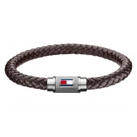 Tommy Hilfiger 2700998L Men's Leather Bracelet Brown