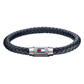 Tommy Hilfiger 2701000L Men's Leather Bracelet Black
