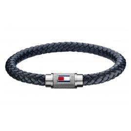 Tommy Hilfiger 2701000L Leder-Armband für Herren Schwarz
