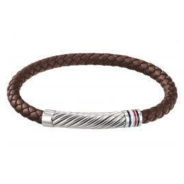Tommy Hilfiger 2790078 Men's Leather Bracelet Casual Brown