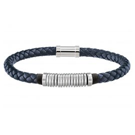 Tommy Hilfiger 2790155 Men's Leather Bracelet Casual Blue
