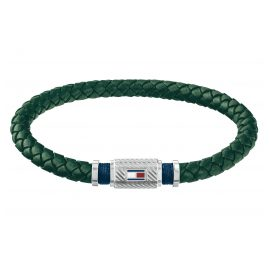 Tommy Hilfiger 2790084 Men's Leather Bracelet Casual Green