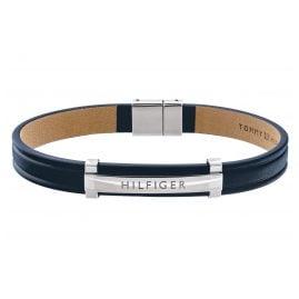 Tommy Hilfiger 2790160 Herren Leder-Armband Dressed Up Blau