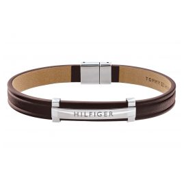 Tommy Hilfiger 2790159 Leather Bracelet for Men Dressed Up Brown