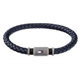 Tommy Hilfiger 2790083 Men's Leather Bracelet Casual Blue