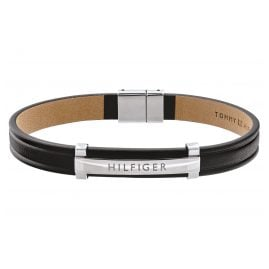 Tommy Hilfiger 2790161 Men's Leather Bracelet Dressed Up Black