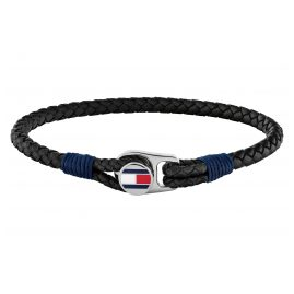 Tommy Hilfiger 2790205 Men's Leather Bracelet Black Casual
