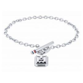 Tommy Hilfiger 2780435 Damen-Armband Edelstahl Logo Charm