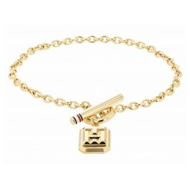 Tommy Hilfiger 2780436 Ladies' Bracelet Logo Charm Gold Plated Stainless Steel