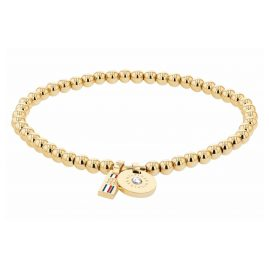 Tommy Hilfiger 2780454 Ladies' Bracelet Beaded Bound Gold Plated Stainless Steel