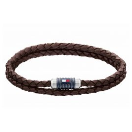 Tommy Hilfiger 2790305 Herren-Armband Leder Braun