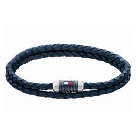 Tommy Hilfiger 2790304 Herren-Armband Leder Blau