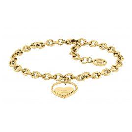 Tommy Hilfiger 2780554 Damen-Armband Herz Edelstahl goldfarben