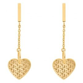 Tommy Hilfiger 2780303 Ladies' Drop Earrings Heart Gold Plated Steel