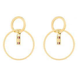 Tommy Hilfiger 2780321 Women's Drop Earrings Dressed Up Gold Plated Steel