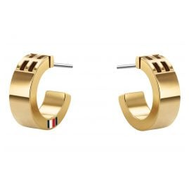 Tommy Hilfiger 2780418 Ladies' Hoop Earrings Gold Plated Stainless Steel