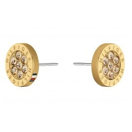 Tommy Hilfiger 2780566 Women's Stud Earrings Gold Plated Stainless Steel