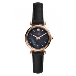 Fossil ES4700 Damen-Armbanduhr Carlie Mini Leder Schwarz