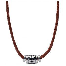 Fossil JF02687040 Herren Leder-Halskette Vintage Casual