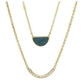 Fossil JF02947710 Ladies' Necklace Half-Moon