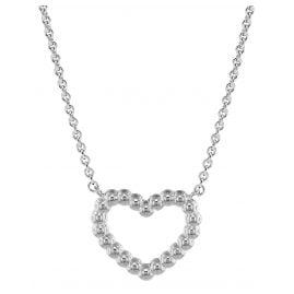 Fossil JFS00459040 Silber Damen-Halskette Open Heart