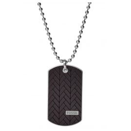 Fossil JF03395040 Men's Necklace Dog Tag Pendant