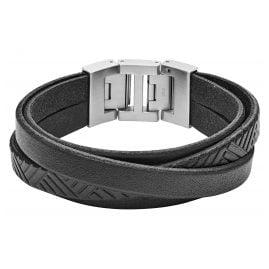 Fossil JF02998040 Herren-Armband Vintage Casual Schwarz