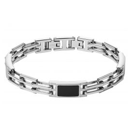 Fossil JF03171040 Stainless Steel Men's Bracelet with Agate Plaque