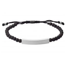 Fossil JF03247040 Men's Bracelet Plaque Lava Stone