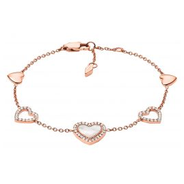 Fossil JF03458791 Damen-Armband Hearts To You Edelstahl roségold