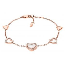 Fossil JF03458791 Women's Bracelet Hearts To You Rose Gold Plated Steel