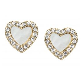 Fossil JF03215710 Ladies Stud Earrings Heart